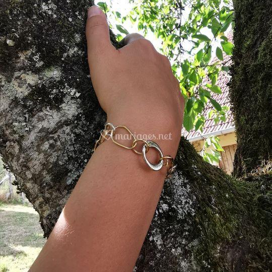 Bracelet Bicolore Or 750