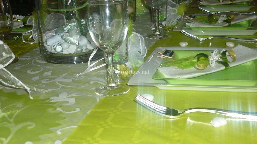 Vue de la table