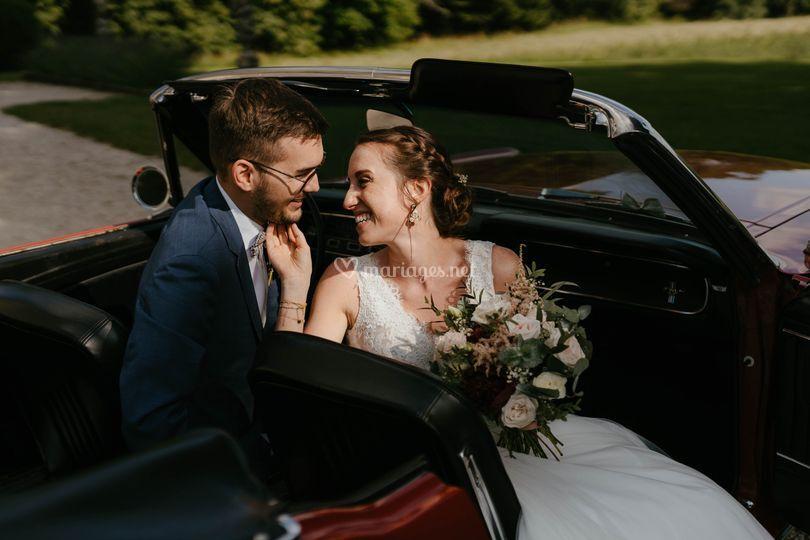 Les beaux mariés Maud & Alex