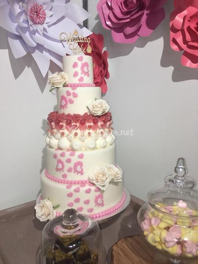 Wedding cake et candy bar