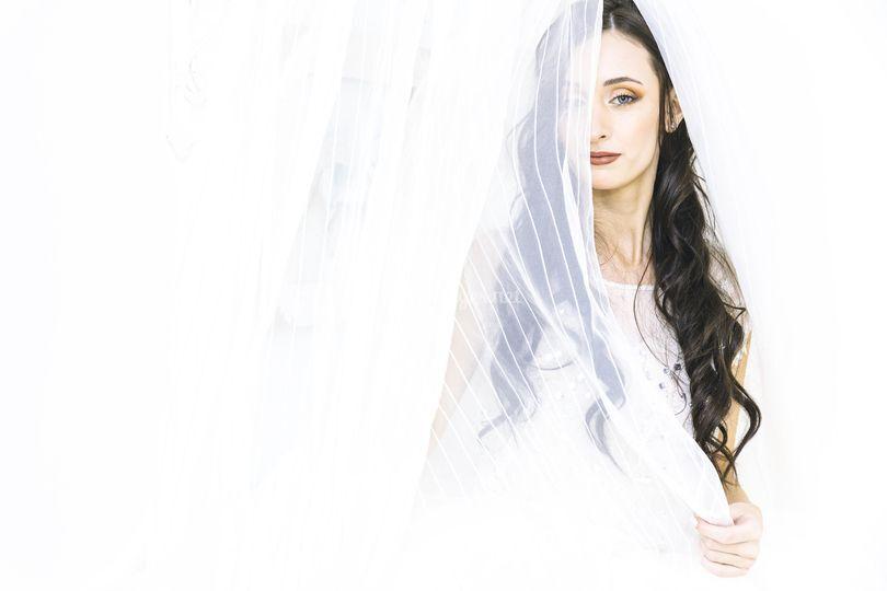 Portrait créatif de la mariée