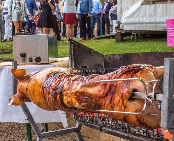 Mariage cochon à la broche
