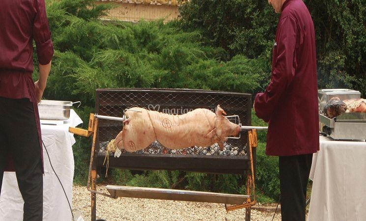 Cochon à la broche