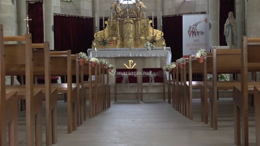 Eglise avant la cérémonie
