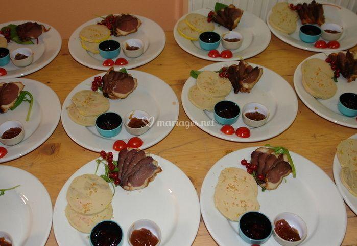 Assiettes préparées