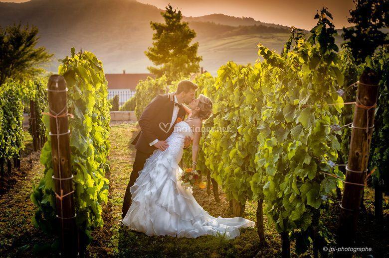 Mariés dans le vignoble
