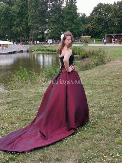 Robe mariée gothique
