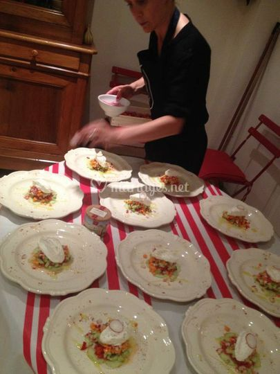 Chef Séverine au dressage