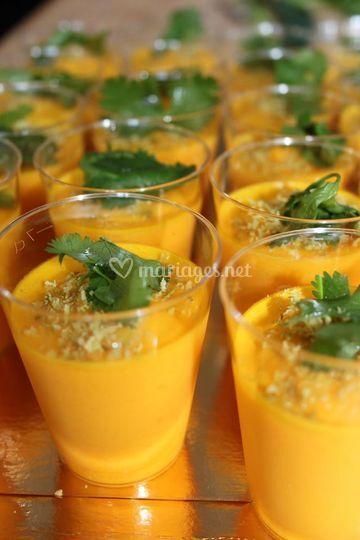 Verrines velouté de carotte