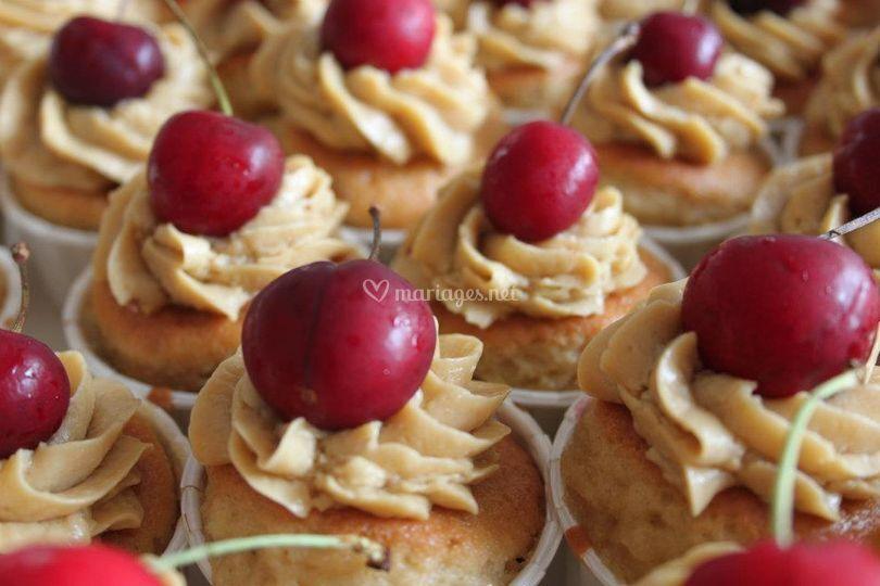 Cupcakes cerise/ pistache