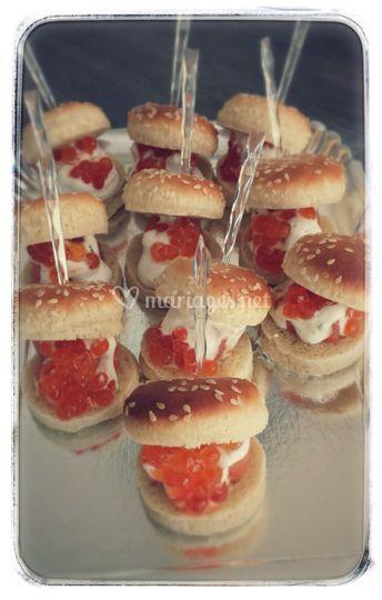 Mini hamburgers saumon