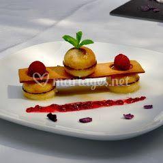 Sphère de crème brûlée croquan