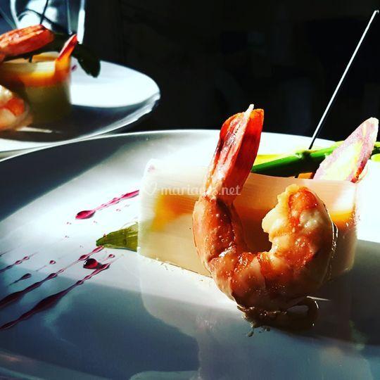 Entremet crustacés