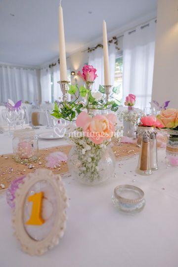 Table Bohème chic