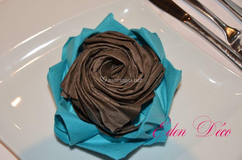 Fleur en serviette