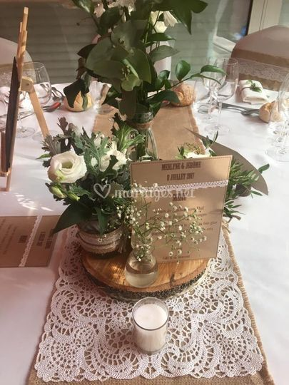 Centre de table champêtre