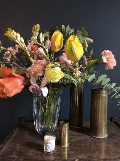 Bouquet vase st Louis