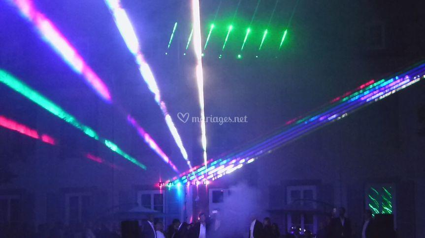 Effet harpe laser