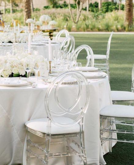 Nos chaises cristal
