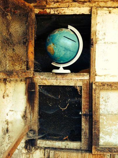 Urne globe terrestre