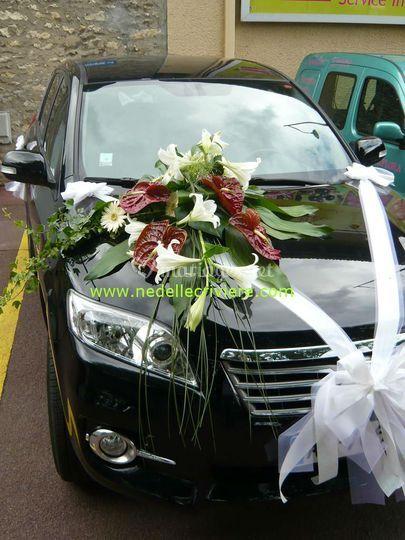 Décor de voiture des mariés