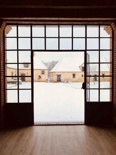 La verrière sous la neige