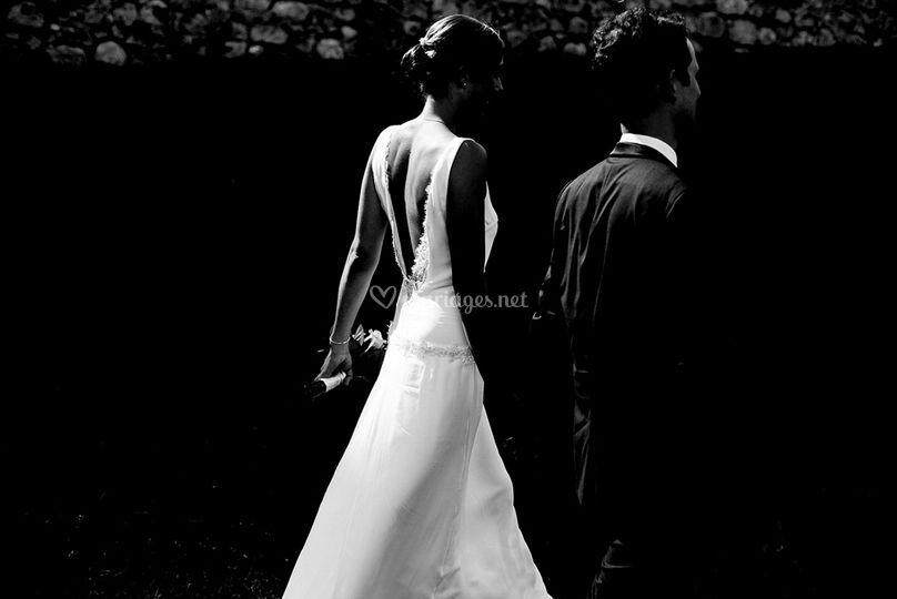 Robe mariage dos nus nature