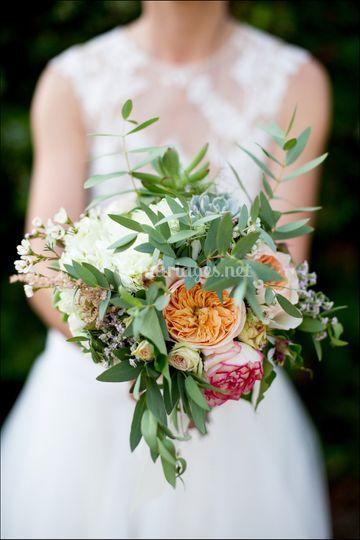 Mariage bouquet amour couple