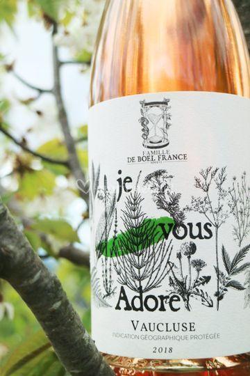 Notre rosé 'je vous Adore'