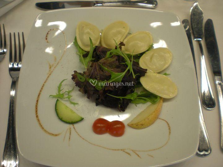 Raviole de foie gras