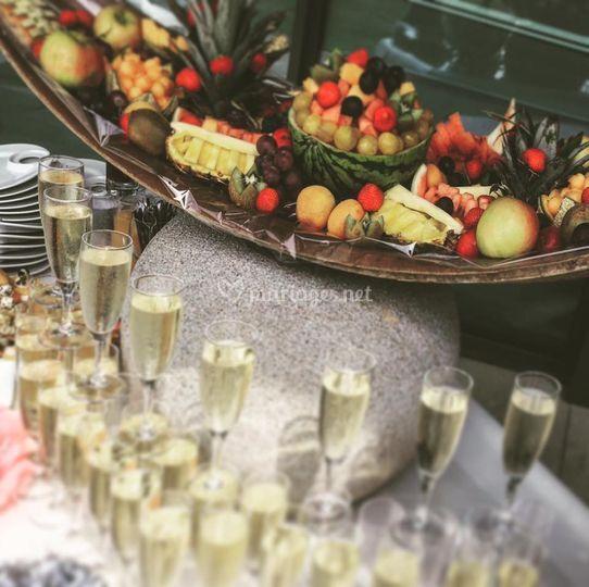 Corbeille de fruits cocktail