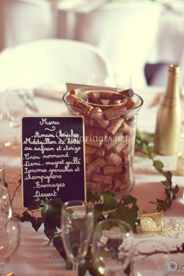Décoration table champagne