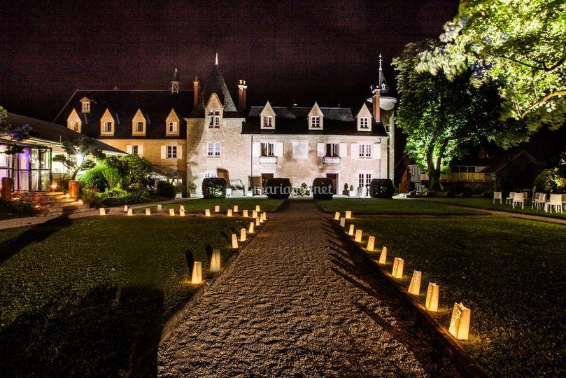 Éclairage de nuit du château