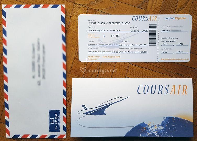 Billet d'avion réaliste