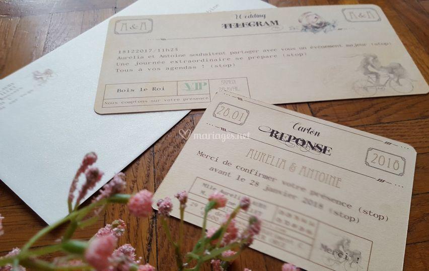 Télégramme vintage