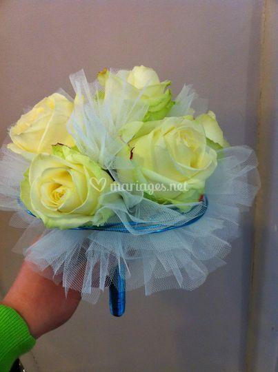 Bouquet de mariée tulle