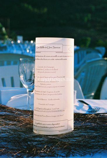 Presentation du menu