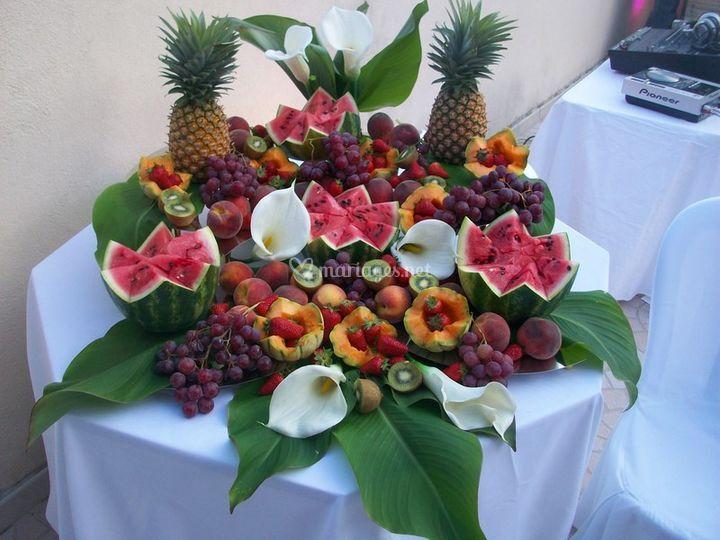 Cascade de fruits