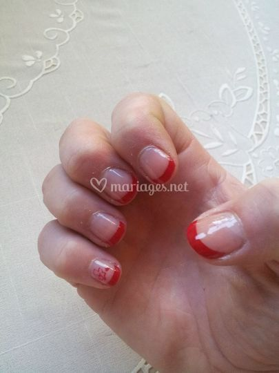 French rouge + Stamping