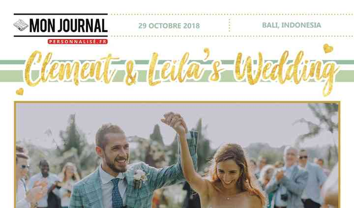 Journal de mariage - 8 pages