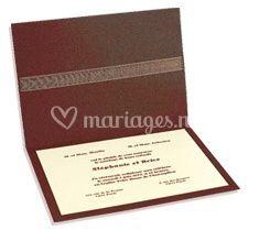 Faire-part de mariage chocolat et nacré