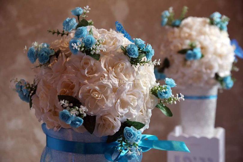 Boules fleurs personnalisées