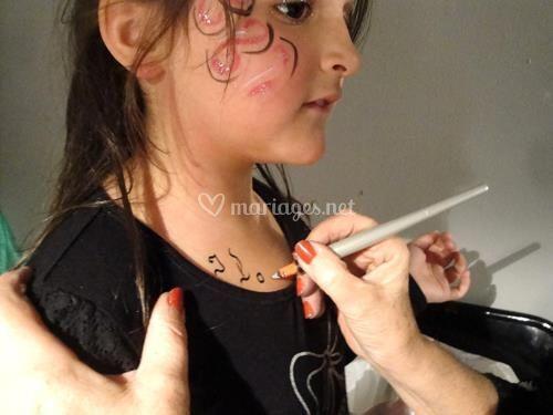 Tatouage éphémère petite fille