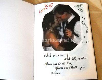 Page livre artiste cadeau