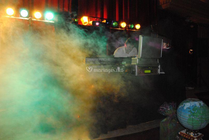 Machine à fumée.