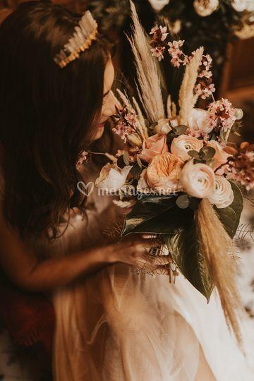 Bouquet vintage bohème