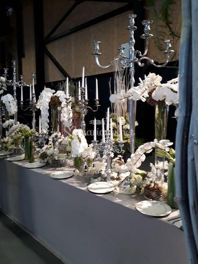 Buffet décoration florale