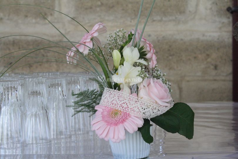 Cup cake floral