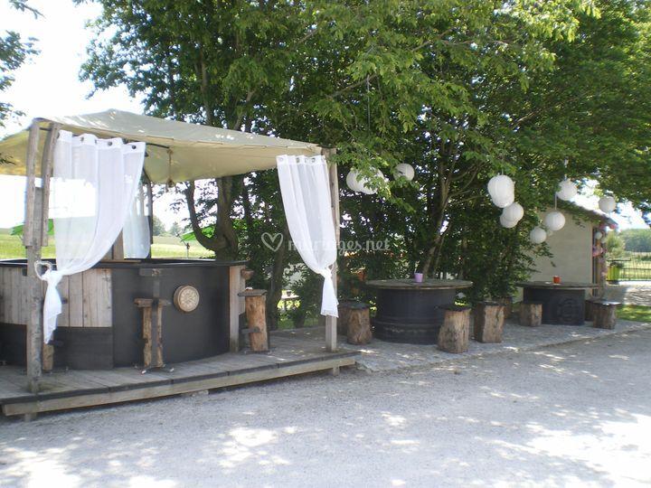 Le bar pour le vin d'honneur