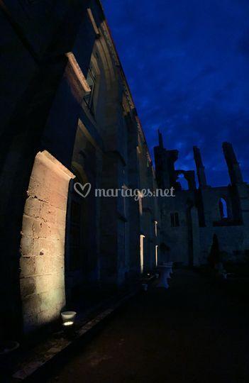 Éclairage façade Abbaye